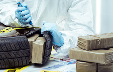 Meth Packages Being Pulled From Inside Tire