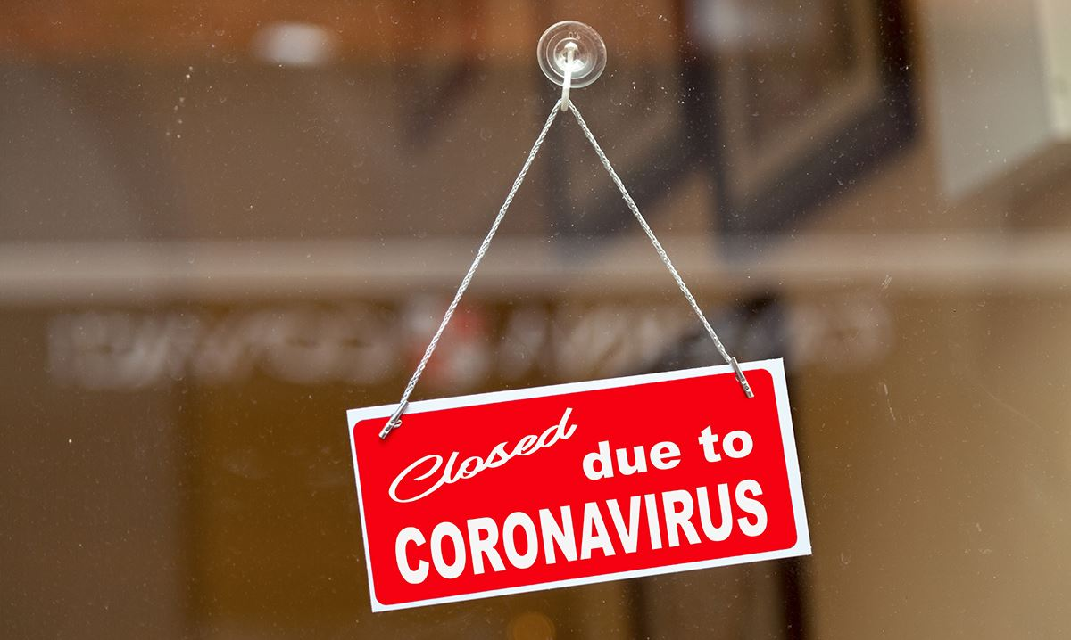 Closed Due To Virus Sign