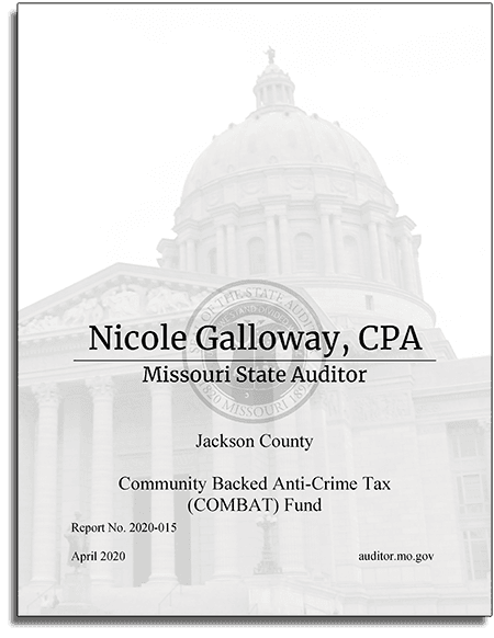 Missouri State Audit COMBAT Report