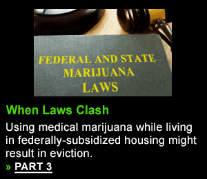 Using medical marijuana while living in federally-subsidized housing might result in eviction.