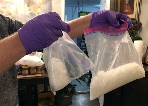 Meth Confiscated By The Drug Task Force
