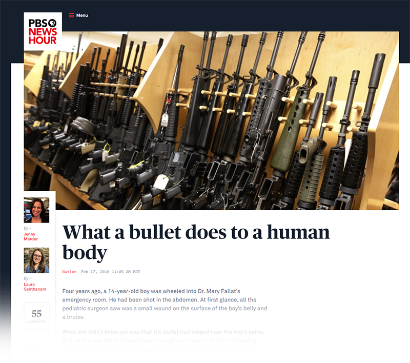 PBS Story About What Bullets Do To The Human Body