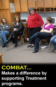 COMBAT makes a difference by supporting treatment programs